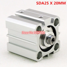 Free shipping 1Pcs SDA20x25 20mm Bore 25mm Stroke Double Acting Pneumatic Air Cylinder(China (Mainland))
