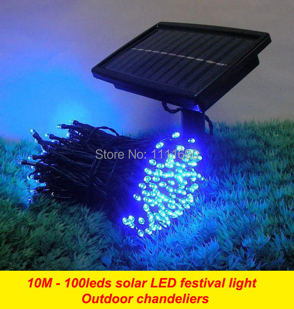Outdoor Solar panel Powered Light 10M 100 LED automatic Garden waterproof Christmas Party String Fairy Decoration Lamp(China (Mainland))