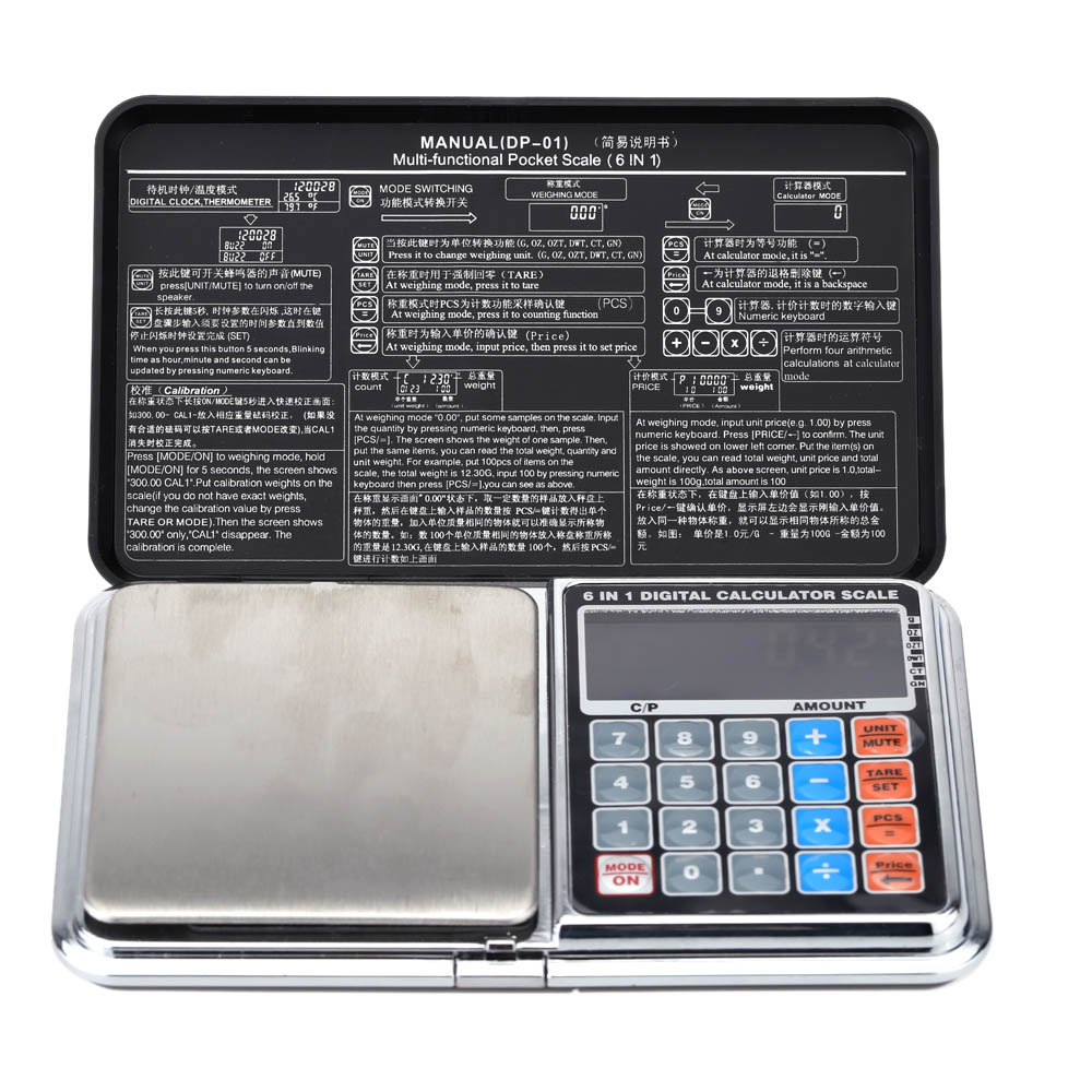 1kg/0.1g Multi-funcitonal Mini Digital Pocket Scale Portable Calculator Weighing Tool(China (Mainland))