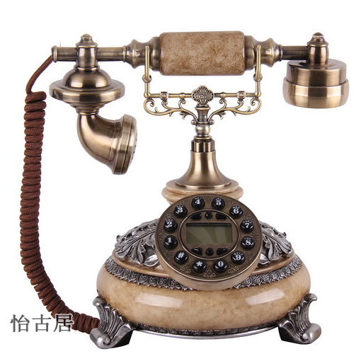 The new high-end antique telephones Promotions / Continental Telephone / retro fashion creative phone handsfree blue +(China (Mainland))