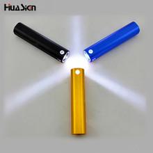 Fashion USB rechargeable gold mini torch multifunctional aluminum LED flashlight emergency power bank charging your smart phone