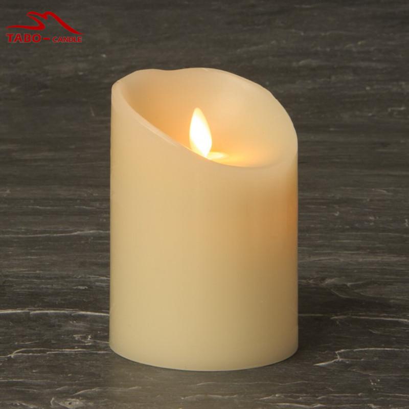 Luminara Wax Pillar Candle, Battery Operated, Moving Flame, 3.5'' X 5'' , Ivory White By Luminara for Wedding Decoration(China (Mainland))