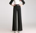 High waist wide leg pants for women black green red plus size full length female trousers