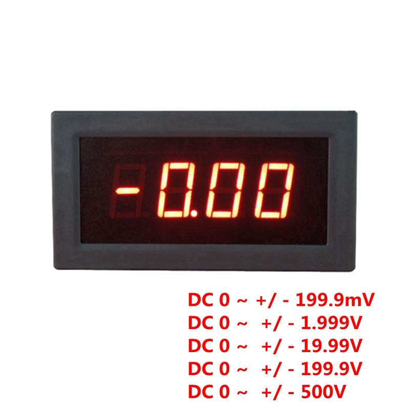 High Accuracy 0.56 Inch Red LED DC Voltage Meter Voltmeter Test Positive and Negative Voltage 5V Power Supply(China (Mainland))