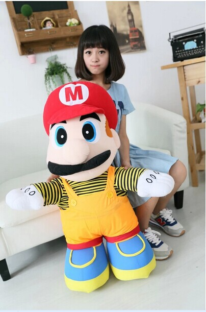 huge lovely plush toy Super Mario plush toy elder brother red mario doll birthday gift about 85cm(China (Mainland))