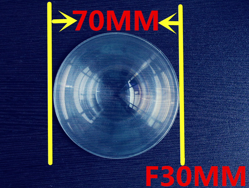 fresnel lens solar Focal length 30mm Diameter 70mm Fresnel Lens small  size fresnel lens thickness 2mm circle lens