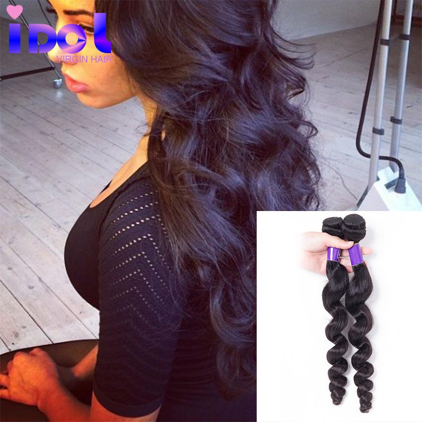 Cheap Brazilian hair 3bundles Brazilian Loose Wave Virgin Hair 100G/PCS lot unprocessed virgin synthetic hair bangs(China (Mainland))