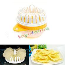 Unique Microwave Apple Fruit Potato Crisps Chips Slicer Snack Makers CompleteSet(China (Mainland))