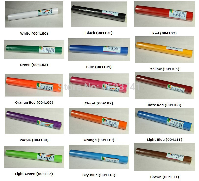 1 Roll Sign Vinyl Sticker for Car Decals Film By Cutting Plotter(China (Mainland))