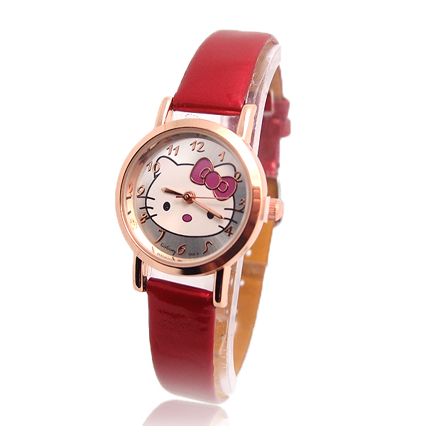 Wholesale Fashion Quartz Watch Children Women Hello Kitty wrist watch 32G26(China (Mainland))