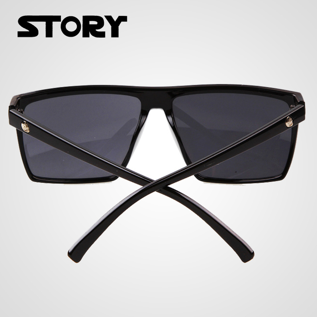 New Summer Style Steampunk Square Sunglasses