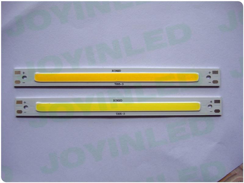 6W 9w COB LET CHIP 900lm 12-14V 120x10mm led bulb lamp beads Warm pure White led bar light rigid strip light cabinet lamp(China (Mainland))