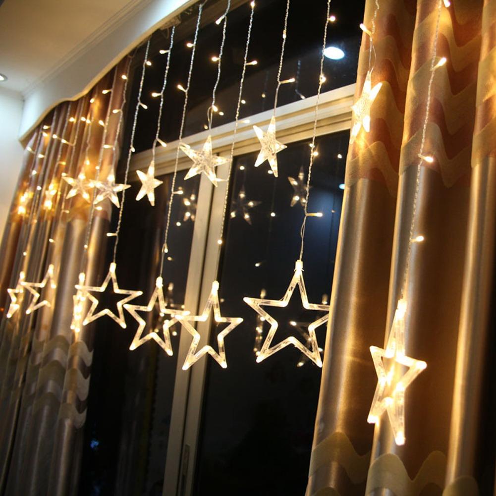 ASLT 2M 138Leds Star LED String Fairy light curtain icicle lamp Wedding Christmas Xmas Party Window Decor Lamps Hotel Decor(China (Mainland))