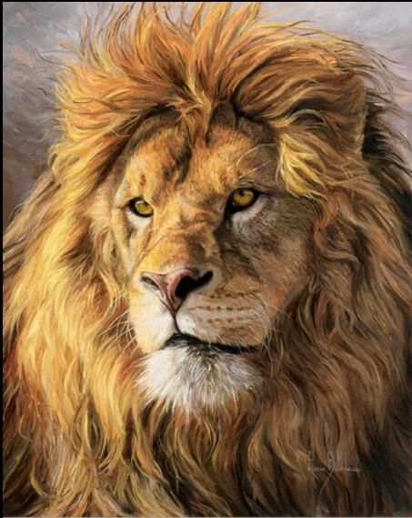Hot Sale !! Animal Lion full diamond resinstone square diamond painting sets home decorative pasting diamond cross stitch BB1071(China (Mainland))