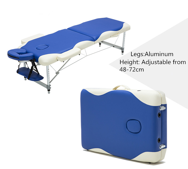 Professional portable folding massage bed with carring bag for Foldable beauty table