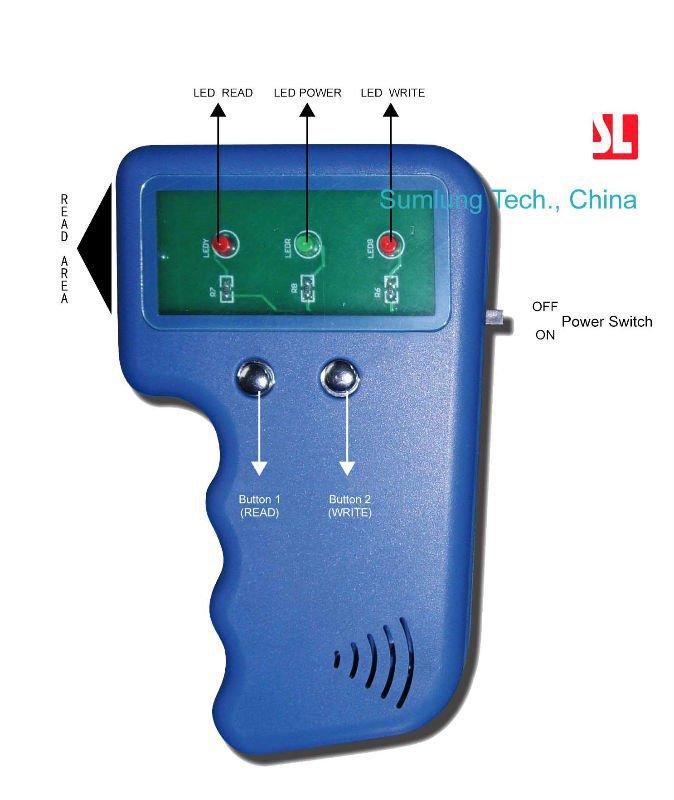 KKmoon Handheld 125KHz RFID ID Card Writer Copier