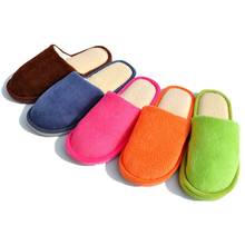 Winter Warm Cozy Cotton Fashion Anti-Slip Shoes House Men Women Indoor Home Slippers #79385(China (Mainland))