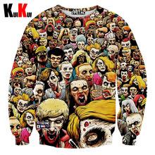 Classic-Skulls Printing Men Women 3D Tupac Sweatshirt Men's Casual O-Neck Long Sleeve Jordan Hoodies Spring/Autumn Pullover Tops(China (Mainland))