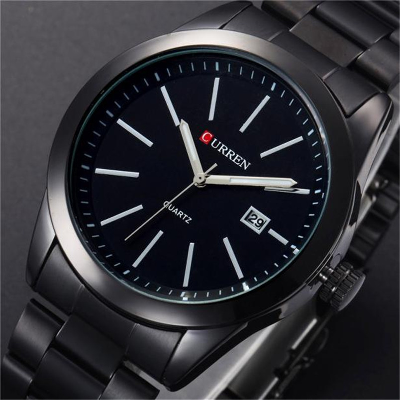 reloj novel 1PC Men Luxury Date Stainless Steel Band Quartz Calendar Wrist Watch Watches JA<br><br>Aliexpress