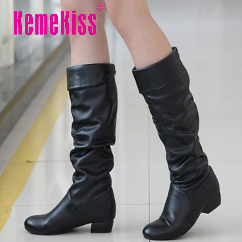 free shipping p610 high quality leather uppers stylish ladys dress casual shoes womens knee boots size 34-43<br><br>Aliexpress
