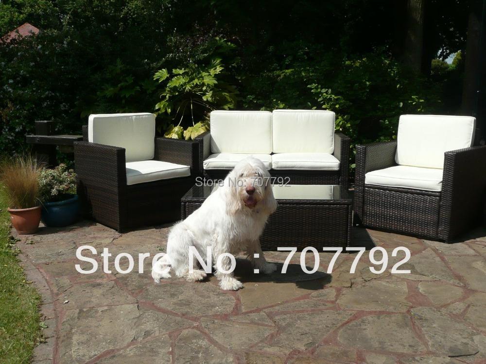 Aluminium rattan Sofa Set Garden Conservatory Furniture Arm Chairs Sofa Coffee Table(China (Mainland))