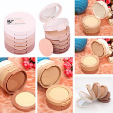 1 SET Professional Concealing Shading Pressed Powder Palette Perfect Foundation Powder Puff For Women Makeup Cosmetic Tools