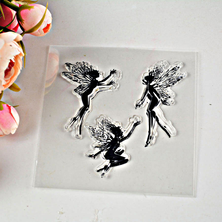 1pc Clear Transparent Stamp TPR small fairy/happy easter/princess stamp for decor scrapbooking(China (Mainland))