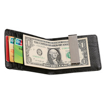 100% Brand Genuine leather money clip stainless steel clip for money high quality leather holder for money new clamp for money(China (Mainland))