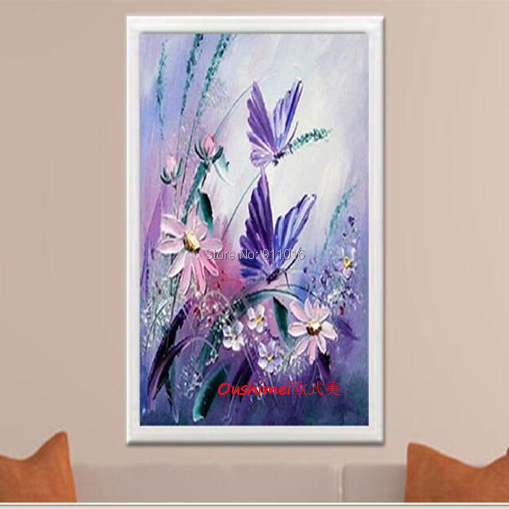 Couteau fleur peinture abstraite la main peintures - Peinture fleur moderne ...