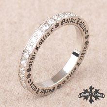 Designer Thumb Vintage crystal rings for women Stainless steel Roman letter gothic Ring Cross  joint fashion Rings for men