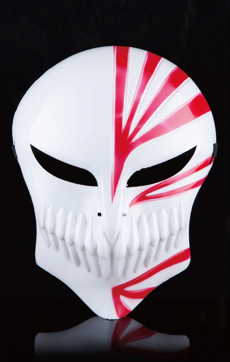 2016 new Bleach Cosplay Kurosaki Ichigo Bankai Hollow State White Full Halloween Mask Free Shipping(China (Mainland))