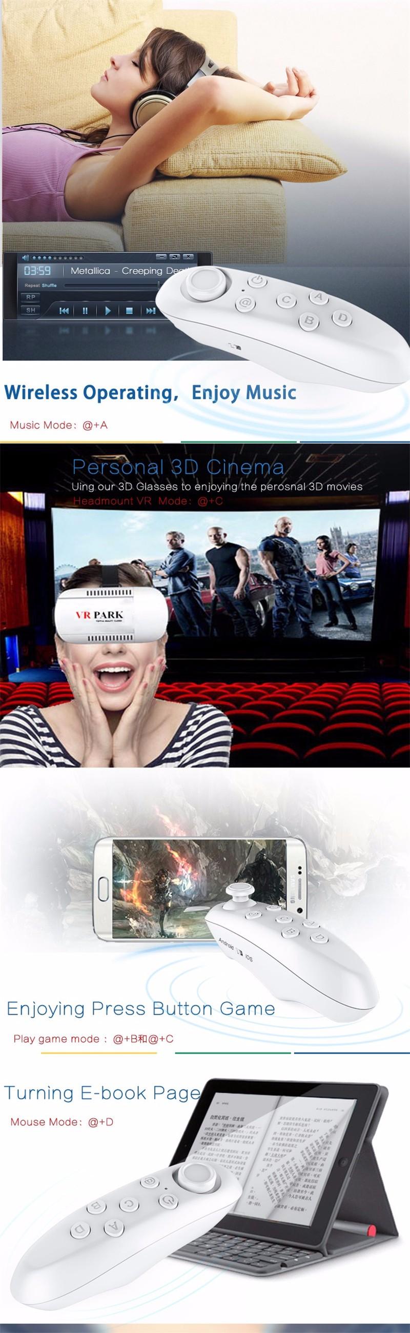 Original VR Box 3d glasses for mobile Virtual Reality Headset Head Mount Goggles Google Cardboard Helmet VRBOX + Remote + OTG