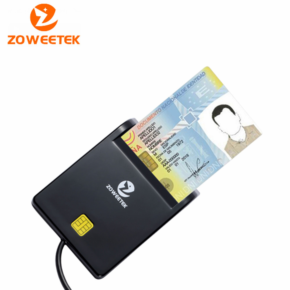 Zoweetek 12026-1 Easy Comm EMV USB Smart Card Reader CAC Common Access Card Reader Writer ISO 7816 For SIM /ATM/IC/ID Card(China (Mainland))