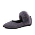 2016 New Winter Women Flats Shoes Rabbit Fur Shoes Woman Fashion Thickening Warm Flats Shoes Casual
