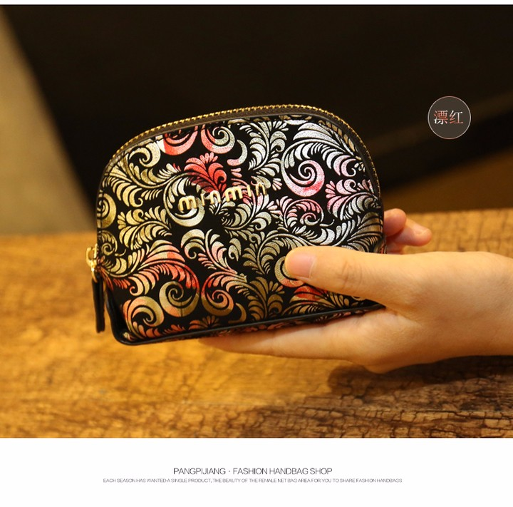 Female coin purse women lady  Leather Card Holder Mini Wallet Clutch (9)