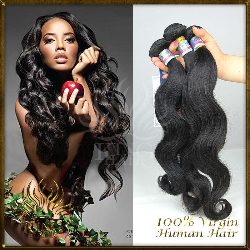6A unprocessed brazilian virgin hair body wave 8-30inch King Hair Products brazilian hair body wave human hair wholesale price(China (Mainland))