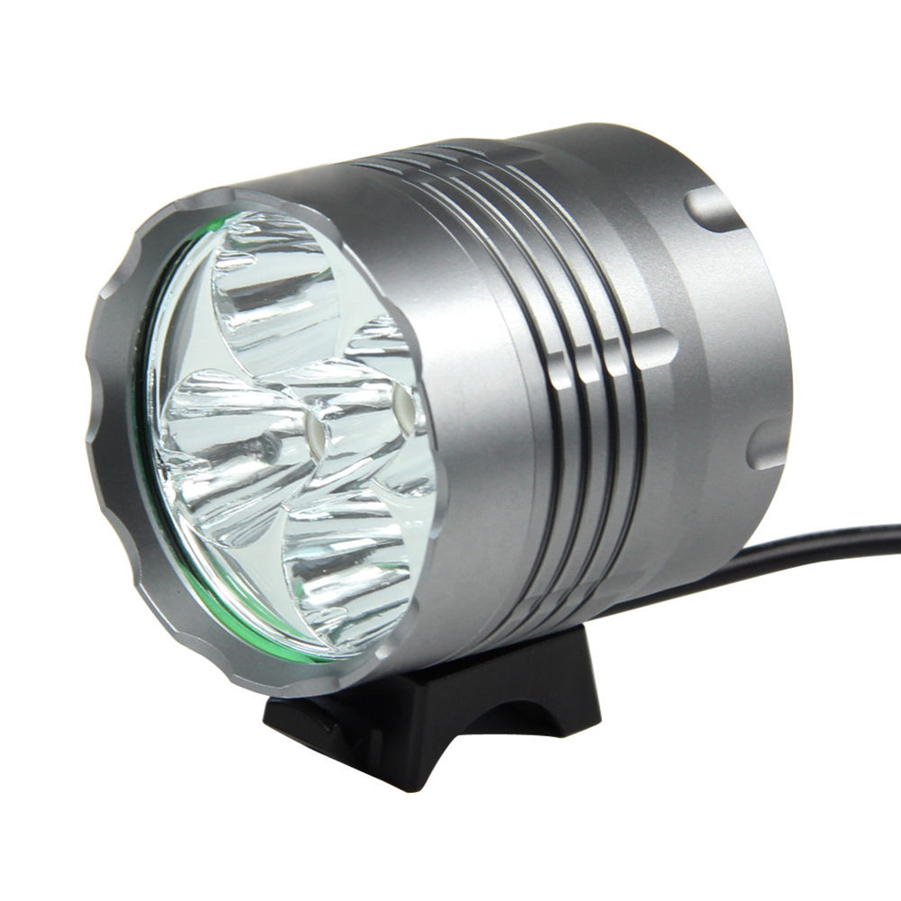 Wholesale 5Pcs Bicycle Bike Front Light Ultra Bright 8000LM LED Mountain Bike Bicycle Head Light Cycling Accessories EA14