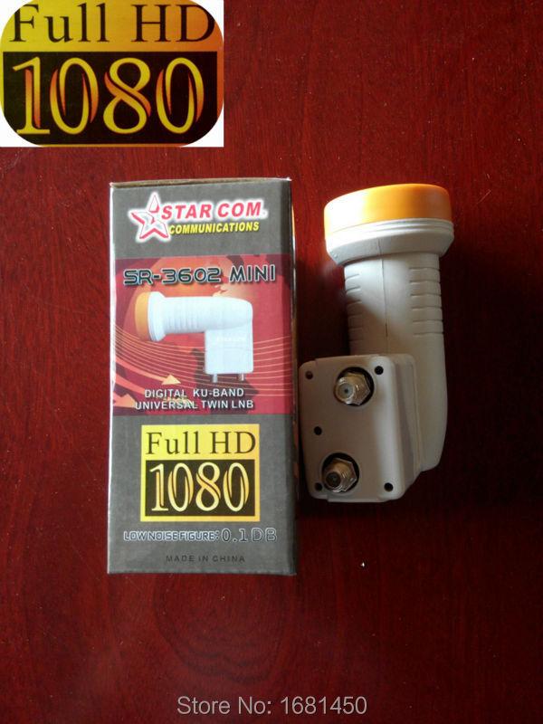 2pcs/lot 0.1db Noise Figure KU Band universal twin LNB SR-3602 for satellite TV receiver,Full HD 1080 LNB for DVB TV BOX(China (Mainland))