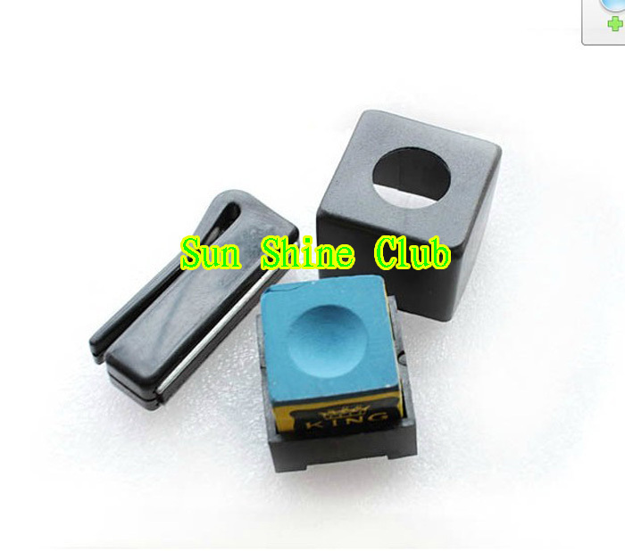 Free shipping 3pcs/lot Billiards &snooker plastic magnet chalk holder/hot sales billiard accessories(China (Mainland))