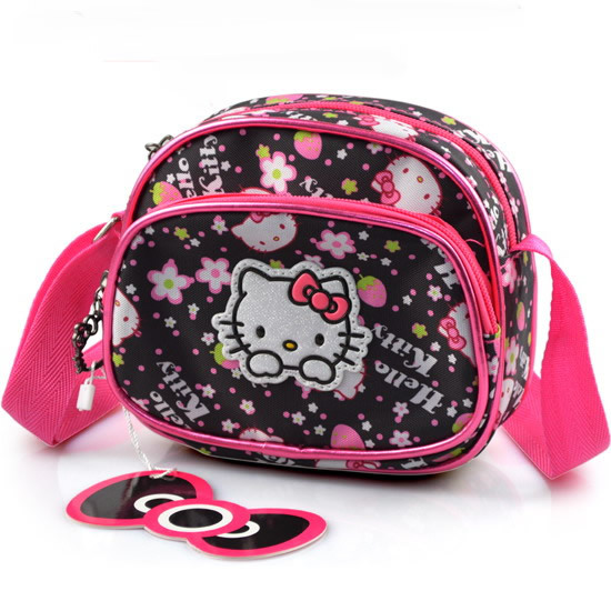Free shipping 2015 Hot Selling Casual Cavans Fabric Messenger bag Hello kitty shoulder messenger bag Small schoolbag for girls(China (Mainland))