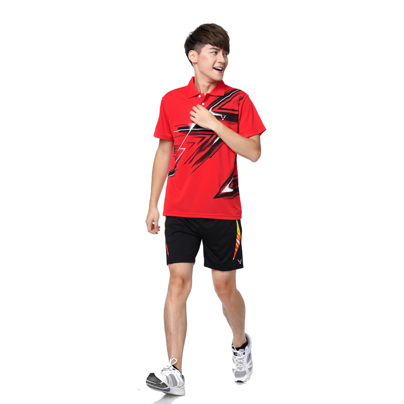 RACE WAY wholesale! 2015 men's tennis clothing / Badminton T-shirts Badminton shirt shorts shirt + Fast Shipping(China (Mainland))