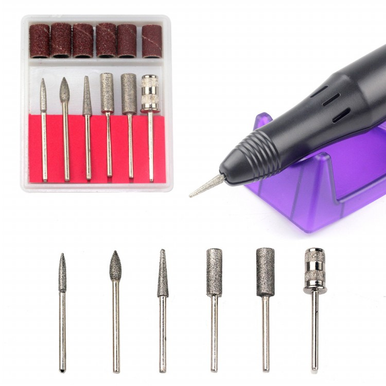 Top quality 10w 5 in 1 multi-function electric manicure equipment ZS210 nail drill manicure set kits file 3colors nail art tools cheap