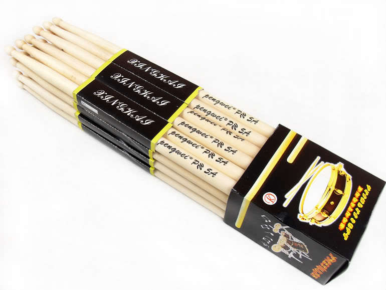 6 Pair 5A Music Band Maple Wood Drum Sticks Drumsticks tracking number - New century electronic technology co., LTD store
