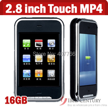 2.8 inch 16GB Touch screen mp4 player with Camera TFT Memory Music Movie Player FM Radio DV with 1.3px camera