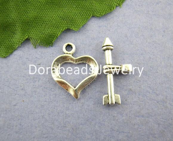 30Sets Cupid Arrow Heart Toggle Clasps 13*16mm (B00807)8seasons(China (Mainland))