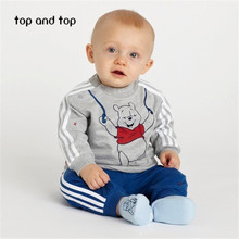 2016 spring style infant clothes baby clothing sets boy girl Cotton baby household 2pcs/set long sleeve baby boy girl clothes(China (Mainland))