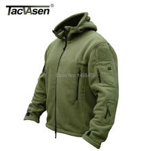TACVASEN Winter Military Fleece Warm Men Tactical Jacket Thermal Breathable Hooded Men Jackets And Coats Outerwear Clothes(China (Mainland))