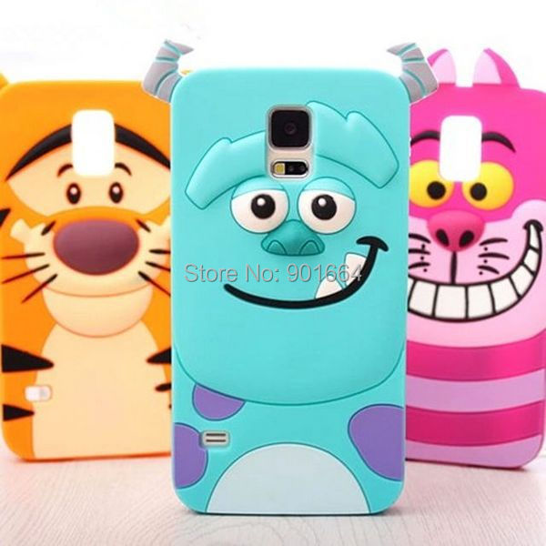For Samsung Galaxy S5 Mini Case HOT Tiger Sulley Alice Cat Rubber Phone Case Cover For Samsung Galaxy S5 Mini G800 Free Shipping(China (Mainland))