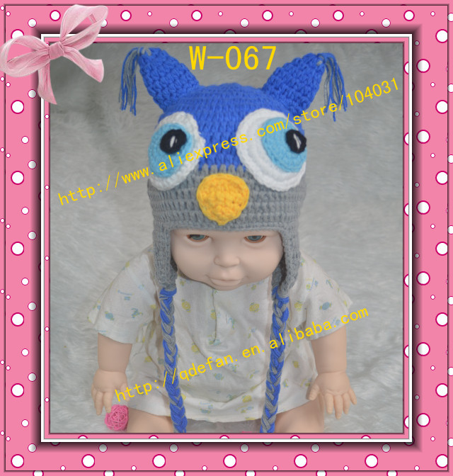 Hot sale crochet patterns newborn winter earflap cap handmade boy knitted owl hat for babies 2013 new arrivals free shipping(China (Mainland))