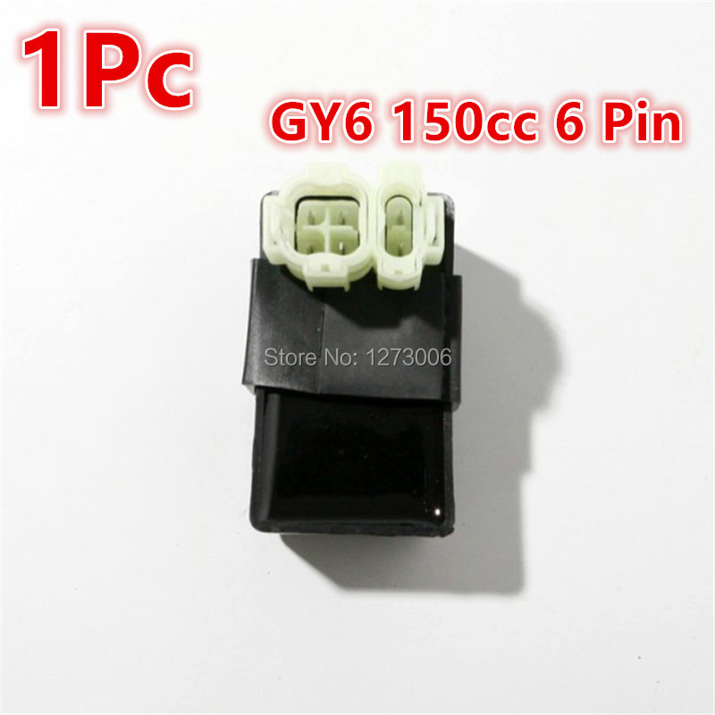 Brand New 1Pcs 6 Pin Motorcycle Stock CDI Ignition Box Chinese Scooter GY6 125CC 150cc ATV Part Car-styling Hot Sale Universal(China (Mainland))